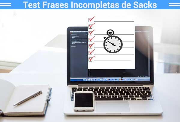 Test Frases Incompletas de Sacks